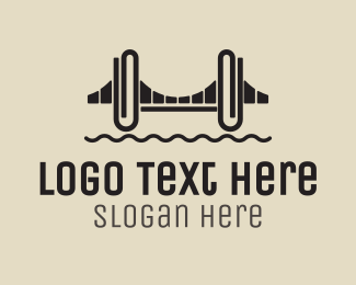 Office Supplies - Clip Bridge logo design