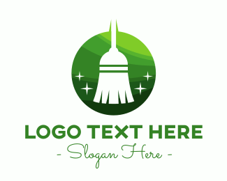 Eco Friendly - Eco Friendly Broom logo design