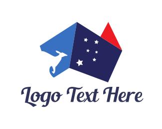 Country - Australia Abstract Flag logo design