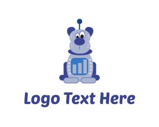 Android - Bear Robot logo design