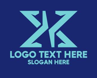 Letter X - Gamer Letter X logo design