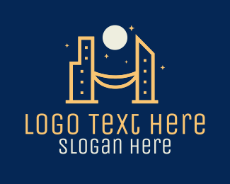 Skyline - Night City Skyline logo design