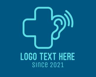 Ear - Hearing Medical Clinic logo design