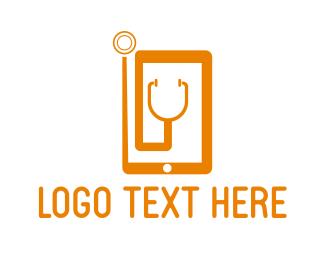 Stethoscope - Medical Phone logo design