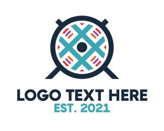 Slack - Blue Grid Fan logo design