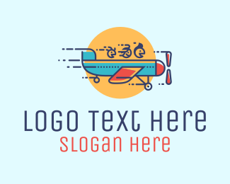 Family - Family Airplane Travel logo design