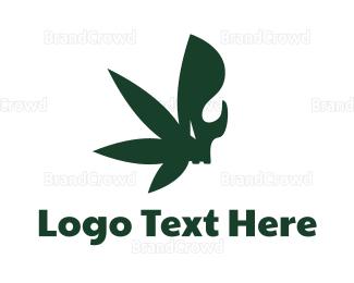 Joint - Skull Cannabis  logo design