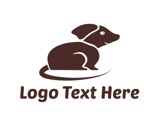 Brown Dog - Brown Small Dog logo design