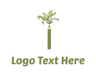 Crayon - Pencil Tree logo design
