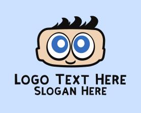 Little - Big Eyes Baby logo design