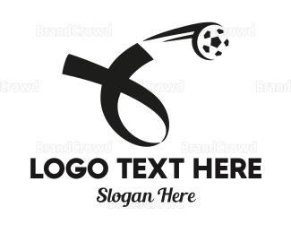 Donation Center - Soccer Football Ribbon logo design