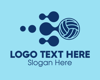Volleyball Equipment - Volleyball Sports Equipment logo design