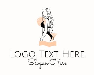 Underwear - Sexy Fashion Woman logo design
