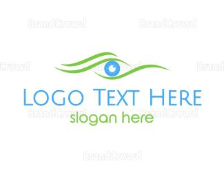 Eye Care - Green Wave Eye logo design