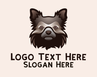 Dog Head - Shaggy Dog Head   logo design