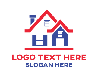 Red House - Red Roof House logo design