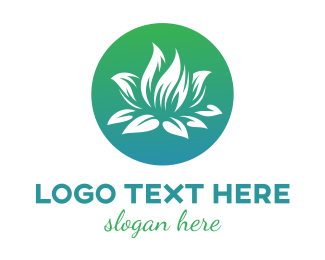 White Lotus Flower Logo Maker