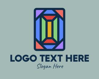 Interior Decorator - Polygonal Window Mosaic  logo design