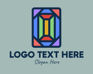 Polygonal - Polygonal Window Mosaic logo design