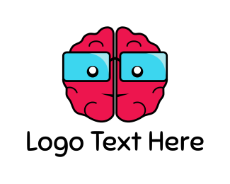 Mind - Brain Glasses logo design