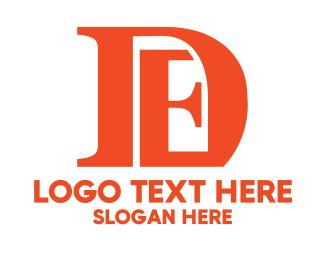Alphabet - Orange DE  logo design