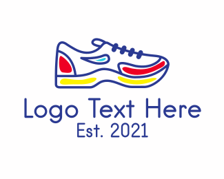 Running Jogging Shoes logo design