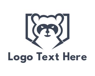 Football - Raccoon Bandit logo design