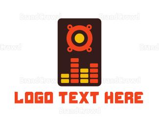 Speaker - Abstract Speaker Mixer  logo design