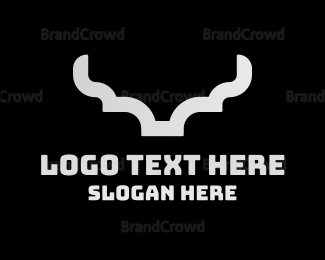 Reindeer - Silver Modern Horns logo design