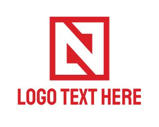 Fabrication - Red Box N logo design