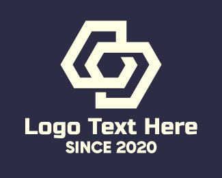 Shapes - White Interlinked Shapes logo design