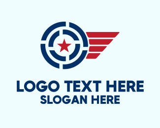 Patriotic Star Wings Logo