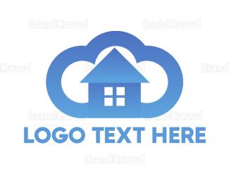Cleaner - Cloud House logo design
