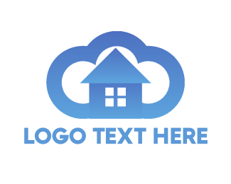 Cleaning - Cloud House logo design