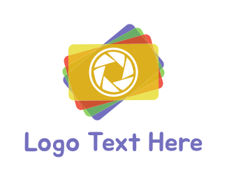 Yellow Orange - Colorful Photography Shutter Lens logo design