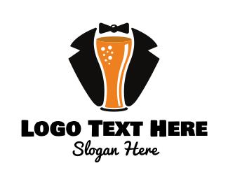 Pub - Beer Tuxedo  logo design