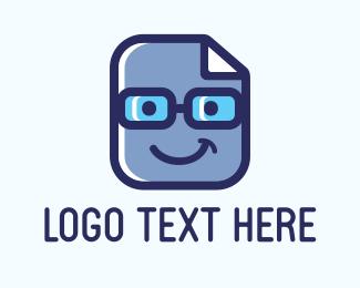 Optical - Blue Geek Files logo design