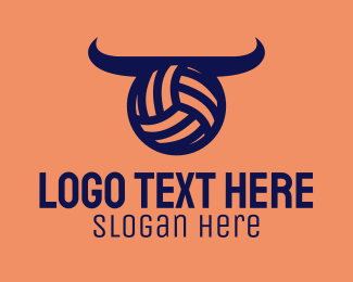 Volleyball Equipment - Volleyball Horns logo design