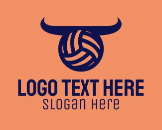 Horns - Volleyball Horns logo design