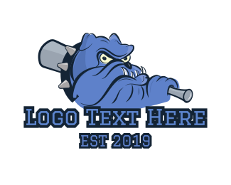 Black And Blue - Baseball Bulldog logo design