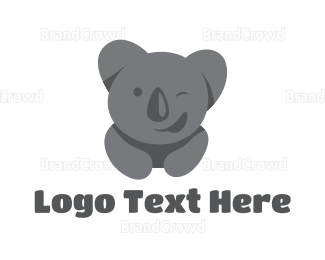 Kids - Funny Koala Bear logo design
