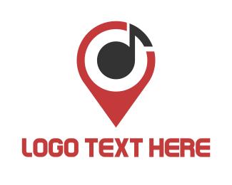 Festival - Music Map Finder logo design