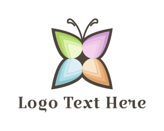 Cleanser - Flower Butterfly logo design
