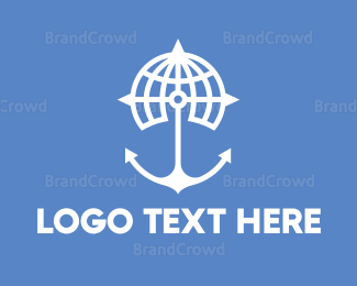 Sailing - World Anchor logo design