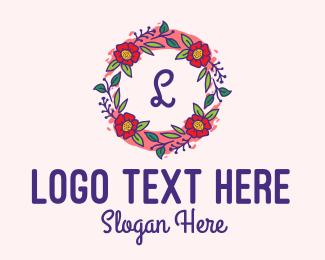 Floral Arrangement - Spring Garden Lettermark  logo design