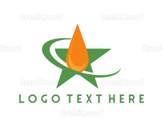 Petroleum - Star Oil Drop logo design