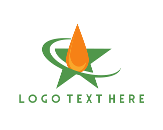 Gasoline - Star Oil Drop logo design