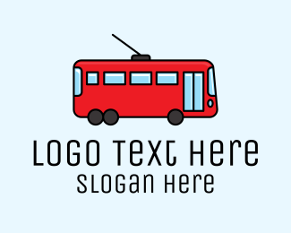 Toy Train - Public Bus Transportation logo design