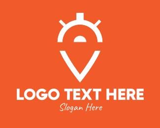 Countdown - Location Pin Timer logo design