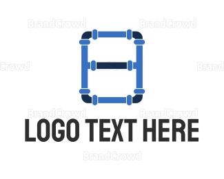 Plumb - Plumbing Pipes logo design